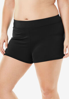 Wide-Band Swim Short, BLACK, hi-res