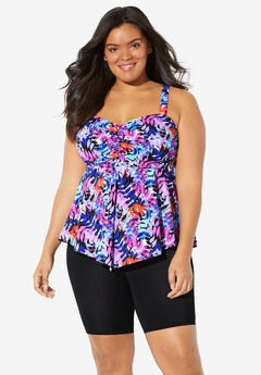 Flared Tankini Top by Fit4U®,