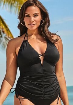 Ashley Graham Plunge Tankini Top,