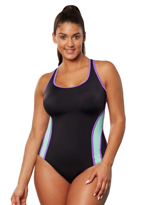 db1c0e6046 X Back Colorblock Maillot by Aquabelle