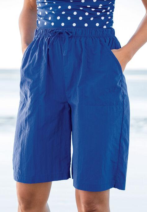 a0ed6180a6 Taslon® Swim Board Shorts with Built-In Brief| Plus Size Swim ...