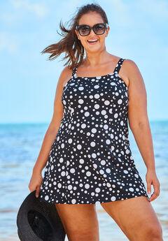 Princess-Seam Swimdress with Brief,