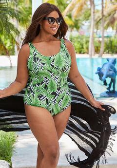 c60e9f1de98 Plus Size One Piece Swimsuits for Women | Roaman's