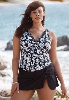 Print Twist-Front Swimwuit by Anne Cole,