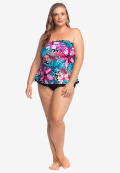 83c872f084987 Ruffle-Edge Tankini Top by Maxine of Hollywood