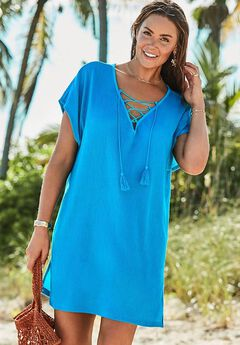 Esme Lace Up Cover Up Dress,