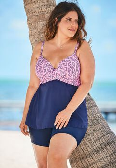 Cross-Front Tankini Top,