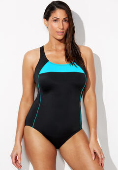 Lycra Xtra Life Border Crossback One Piece Swimsuit,