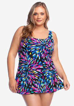Princess-Seam Swimdress by Maxine of Hollywood,