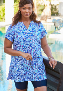 Swim Tunic, DREAM BLUE PALM