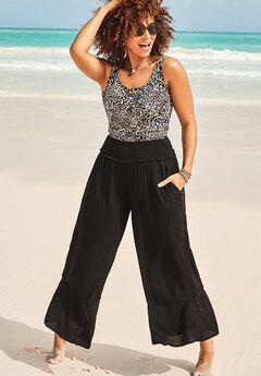 Kennedy Smocked Waist Beach Pant,