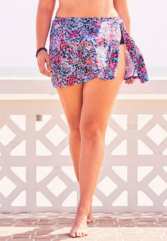 Side-Slit Swim Skirt,