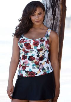 Twist Front Tankini Top by Tropiculture,
