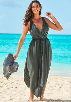 Tenley Surplice Cover Up Maxi Dress,