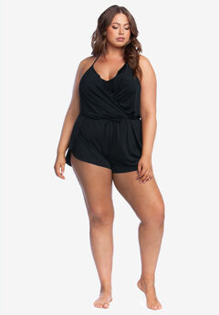 V-Neck Swim Romper by Kenneth Cole Reaction,