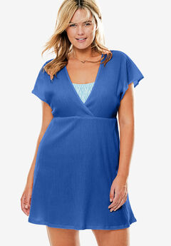 Dolman Sleeve Swim Coverup, PERI