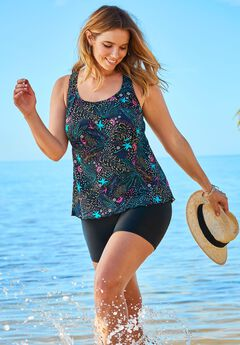6ea184afefd Plus Size Bathing Suits & Swimwear for Women | Roaman's