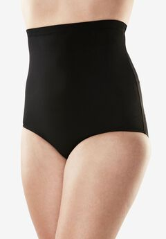 High-Waist Swim Brief, BLACK, hi-res