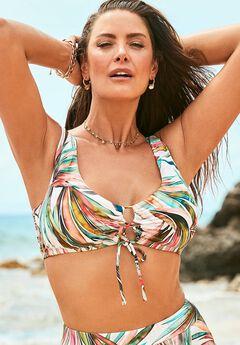 Lace Up Bikini Top,