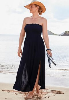 Kelly Strapless Maxi Dress Swimsuit Cover Up,