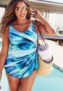 Side-Tie Swimdress by Maxine of Hollywood®,