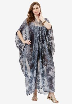V-Neck Maxi Coverup,