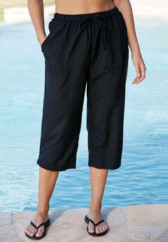 Taslon® Capri Pants, BLACK, hi-res