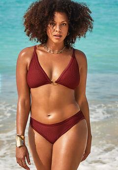 GabiFresh Knit Mesh Overlay Bikini Set,