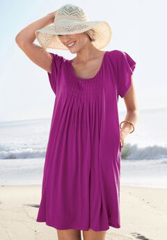 Box-Pleat Cover Up,