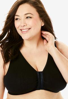 Cotton Knit Leisure Bra by Leading Lady®, BLACK