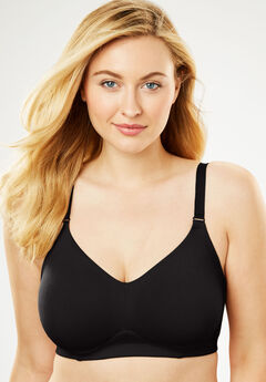 Everyday Embrace Wireless Back Smoothing Bra by Comfort Choice®, BLACK, hi-res