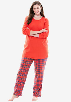 2-Piece PJ Set by Only Necessities®, MULTI RED PLAID, hi-res