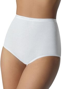 Full coverage stretch brief by Bali®, WHITE