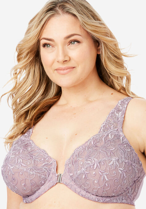 579ce5e69f Embroidered Front-Close Underwire Bra by Amoureuse®