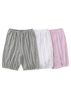 3-Pack Cotton Bloomer by Comfort Choice®, ASSORTED, hi-res