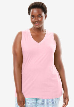 Cotton Sleep Tank by Dreams & Co.®, PINK