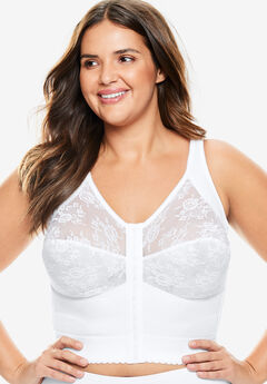 Longline Posture Bra by Comfort Choice®, WHITE, hi-res