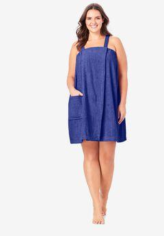 Dreams & Co.® Terry Towel Wrap, BLUE SAPPHIRE