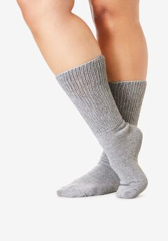 2-Pack Open Weave Extra Wide Socks ,