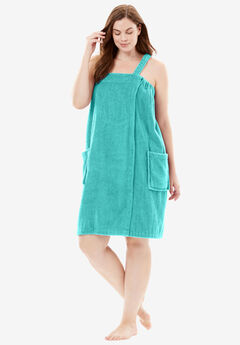 Terry Towel Wrap By Dreams & Co.®, AZURE