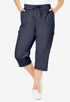 Convertible Length Cargo Capri Pant,