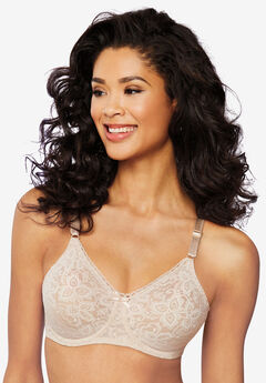 Bra with underwire and stretch lace by Bali®, ROSEWOOD, hi-res
