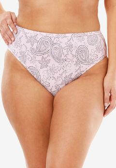Microfiber Bikini Panty by Comfort Choice®, PINK PAISLEY, hi-res