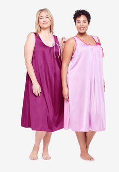 2-Pack Sleeveless Nightgown by Only Necessities®, RICH MAGENTA PINK