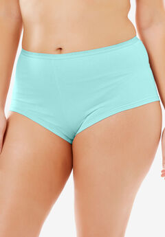 Hipster Stretch Cotton Panty By Comfort Choice®, AQUA