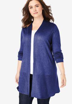 Lightweight Open Front Cardigan, ULTRA BLUE