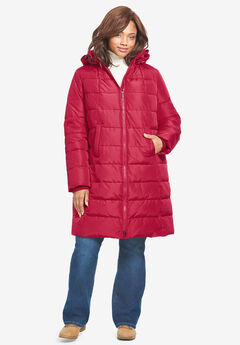 Hooded Puffer Coat,