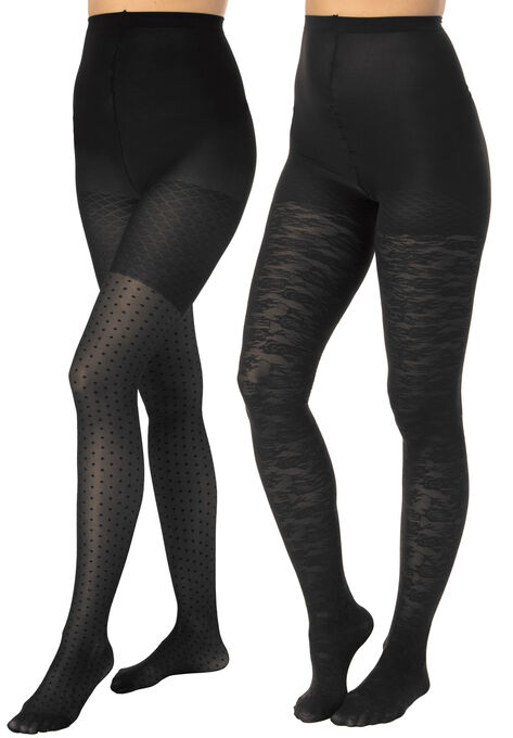 437a87ad83d 2-Pack Pattern Hosiery by Comfort Choice®