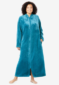 The Microfleece Robe by Dreams & Co.®, DEEP TEAL