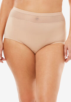 Comfort Choice® Lace-trim Microfiber Brief,